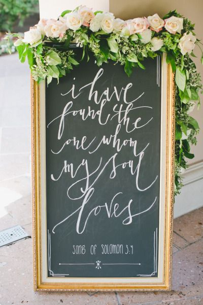 I have found the one whom my soul loves chalkboard sign