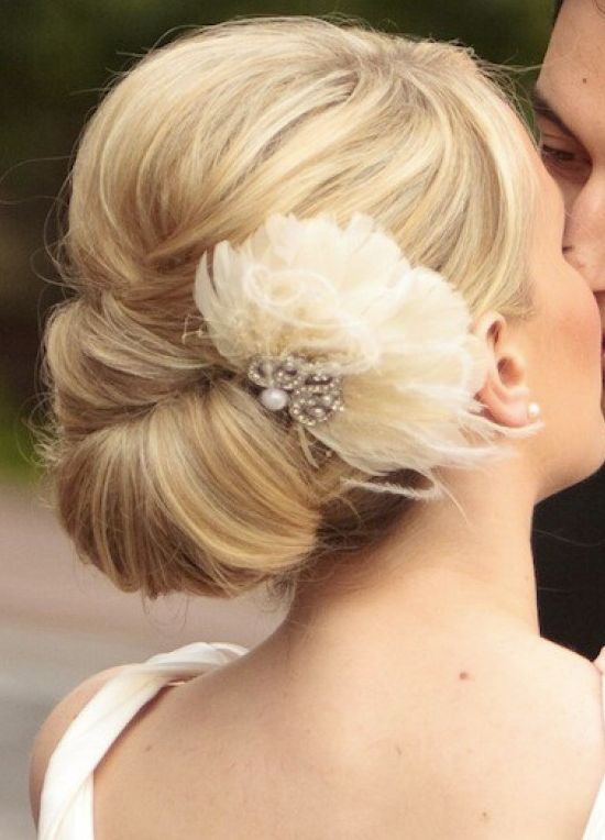 clean bridal up-do