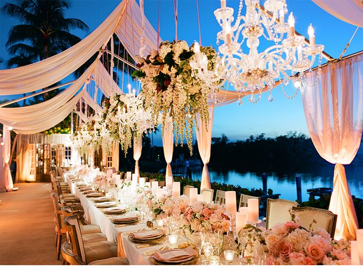 glamorous wedding reception table, intimate wedding table