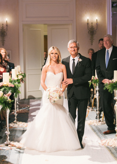 father walking daughter down the aisle {lauren scruggs)