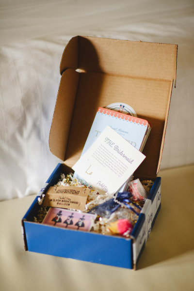 Packed Party gift box for bridesmaids
