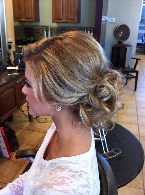 low up-do with volume and curls