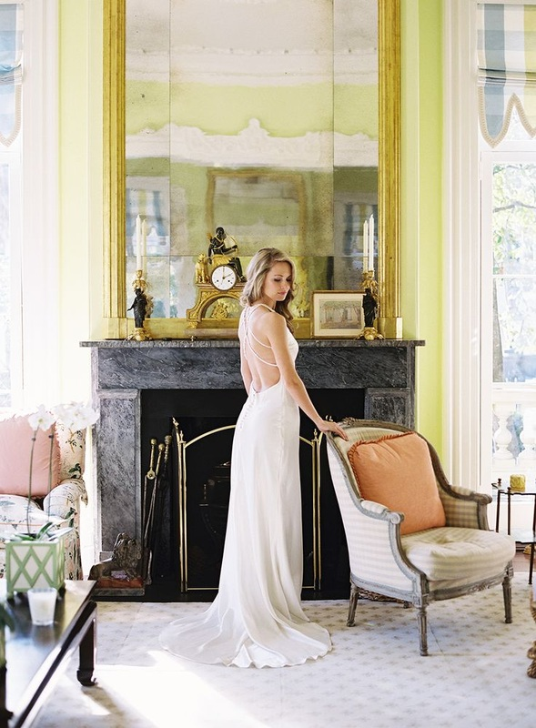 Cameran Eubanks in low back wedding dress