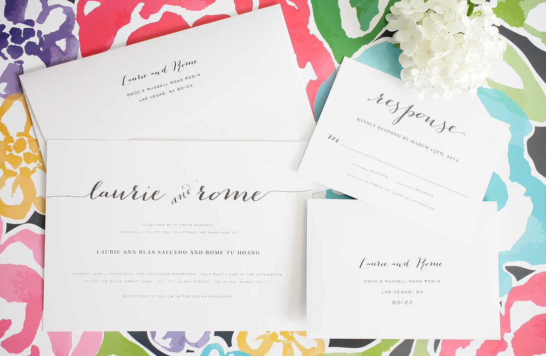 Wedding Font Ideas, White Wedding Invitations With Modern Font And Floral  Background