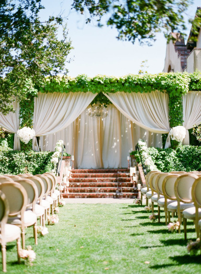 greenery wedding, elegant wedding, ceremony decor ideas