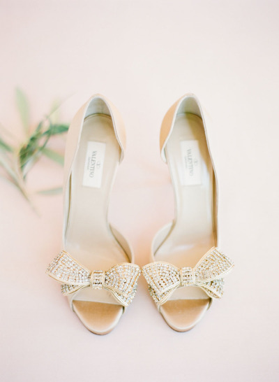 glitter Valentino bow pumps, perfect weddings shoes
