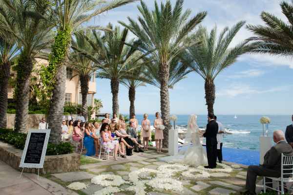 wedding ceremony on the ocean in Cabo San Lucas