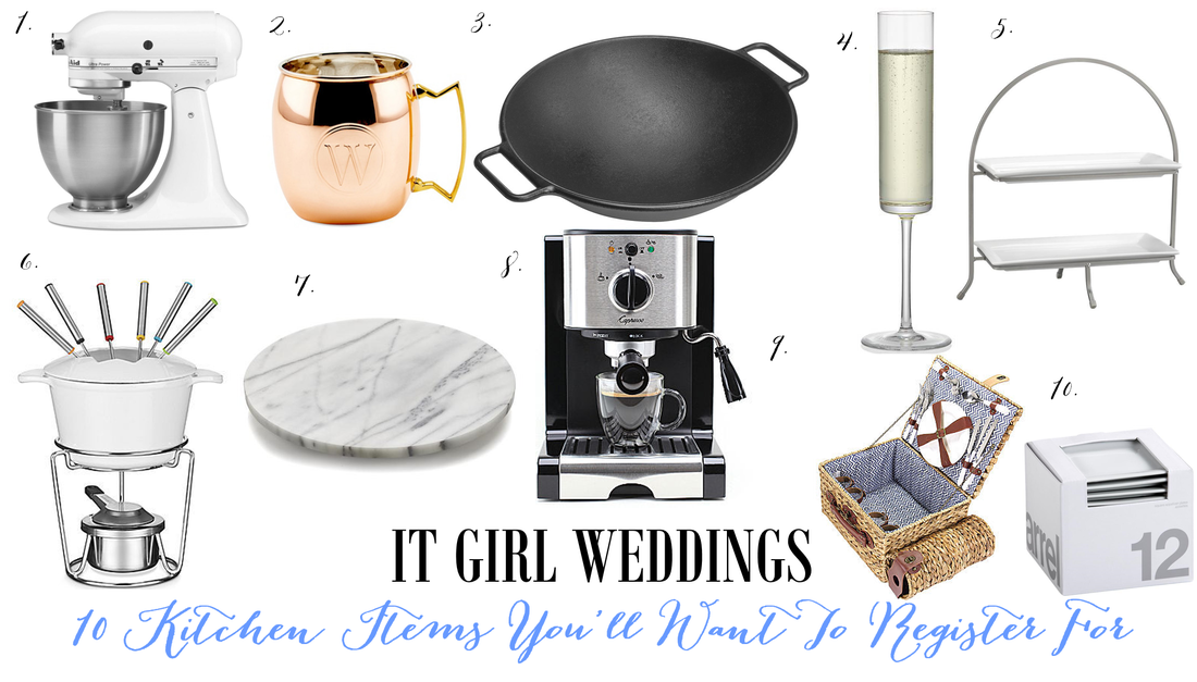 wedding registry ideas, kitchen registry