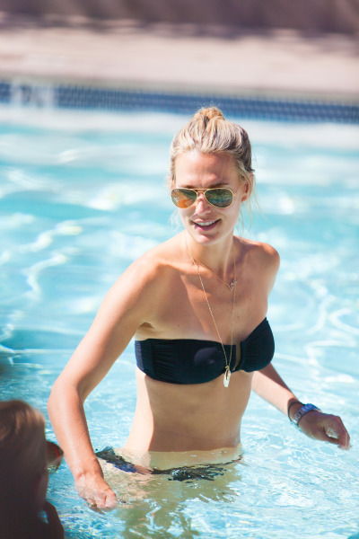 Molly Sims in the pool
