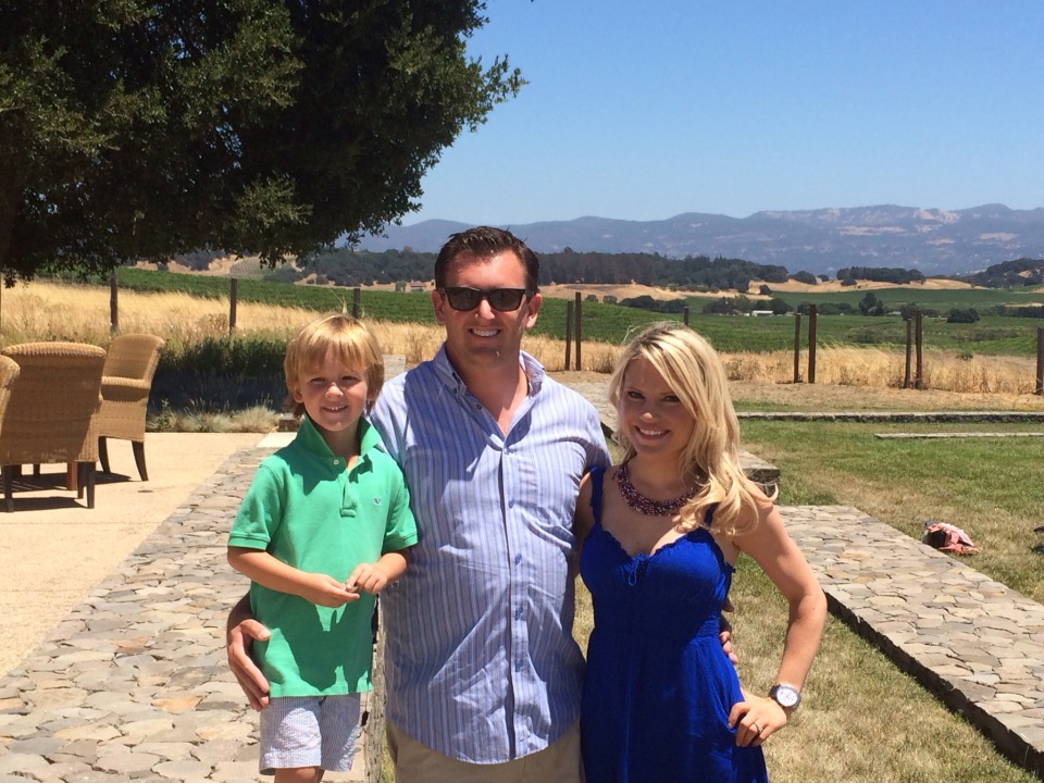 family photo at the Carneros Inn
