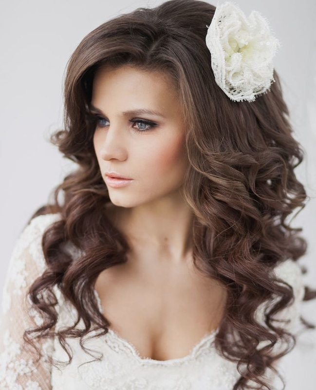 tight curl wedding hairstyle