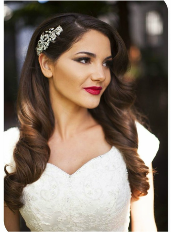 soft curl wedding hairstyle