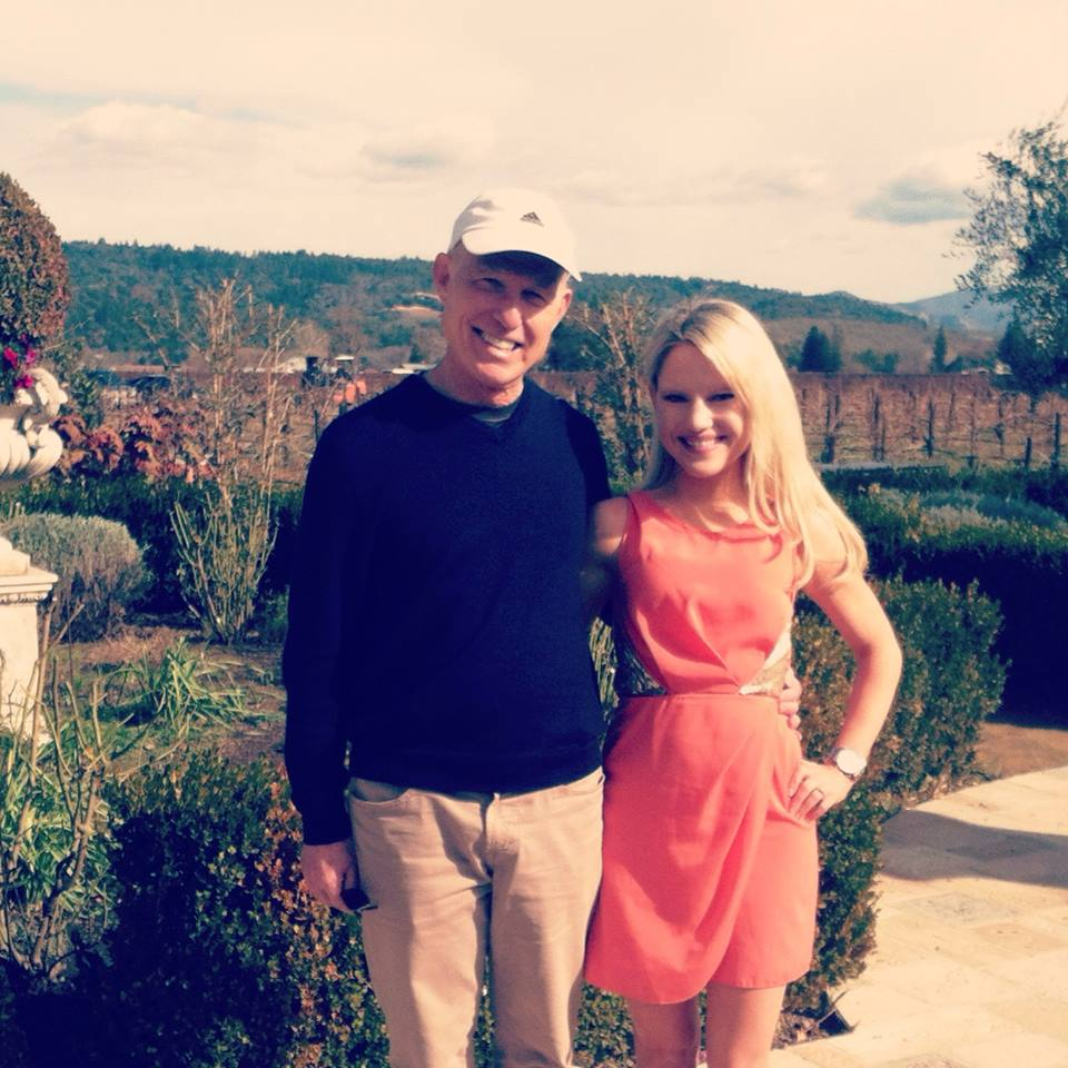 father daughter looking at wedding reception venues in Napa Valley