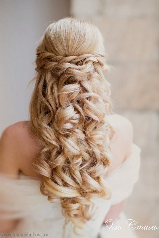 curly bridal hairstyle