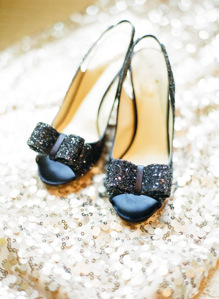 navy glittery kate spade shoes