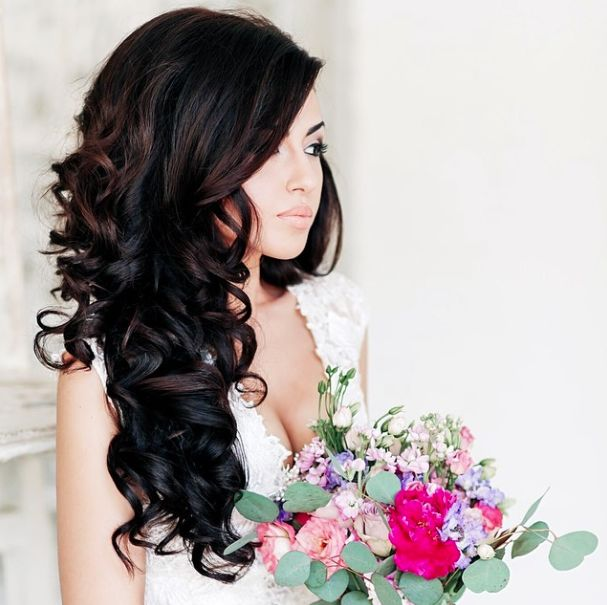 bridal hairstyle with extensions