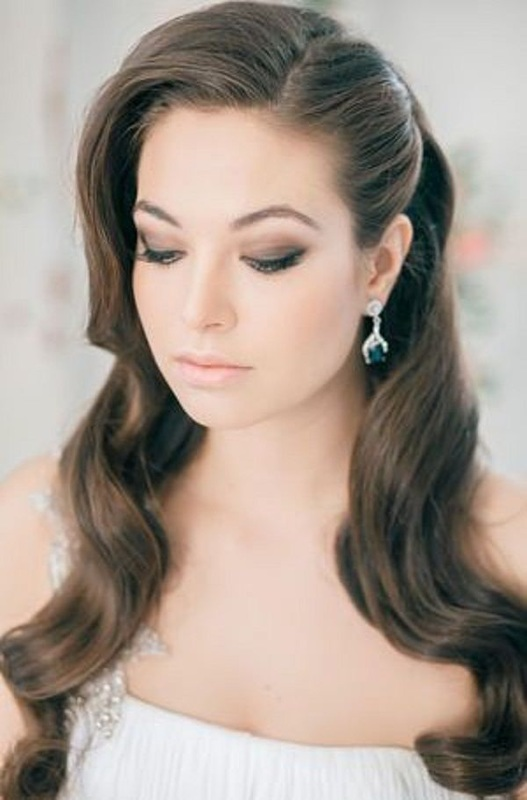 Remarkable Wedding Hairstyle Down In Curls It Girl Weddings Hairstyle Inspiration Daily Dogsangcom