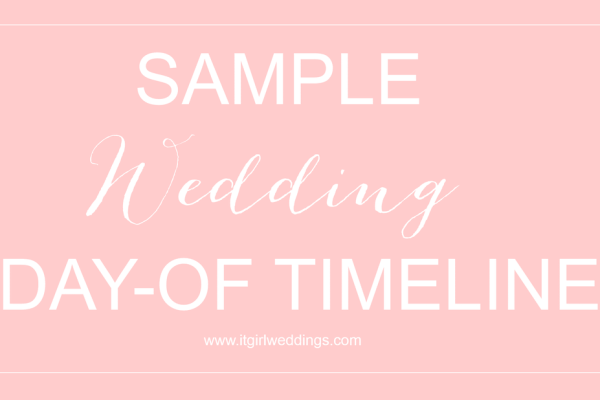 SAMPLE WEDDING DAY-OF TIMELINE