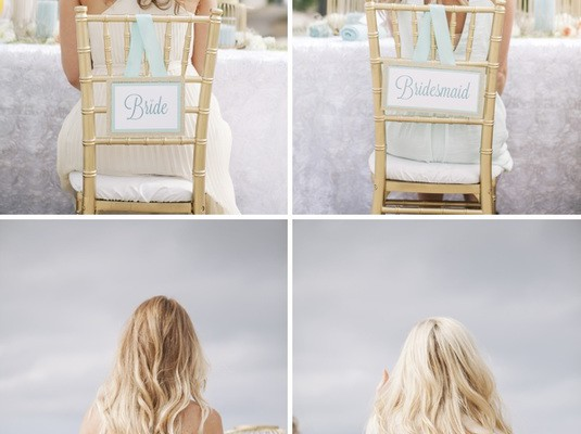 DIY WEDDING RECEPTION CHAIR SIGNS