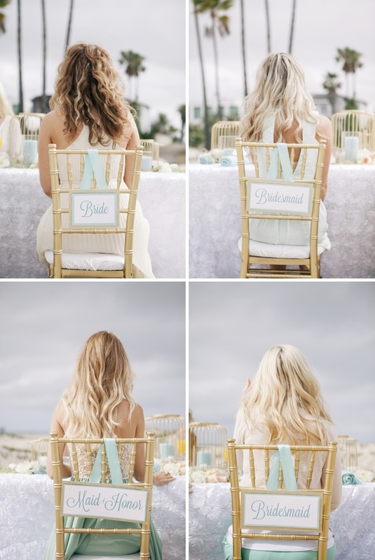 DIY ho to make wedding reception chair signs