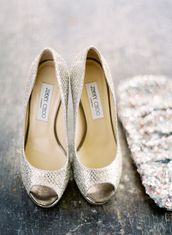 silver jimmy choo wedding pumps, wedding shoes