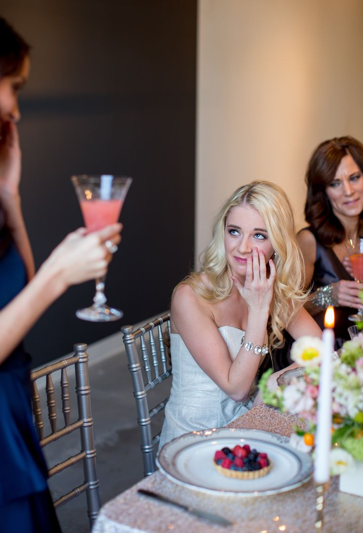 bride-to-be crying at MOH speech