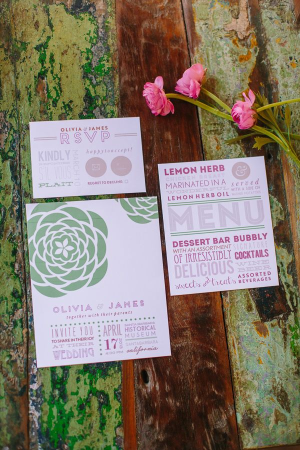 Kate Spade Inspired Table Modern Wedding Invitations ...
