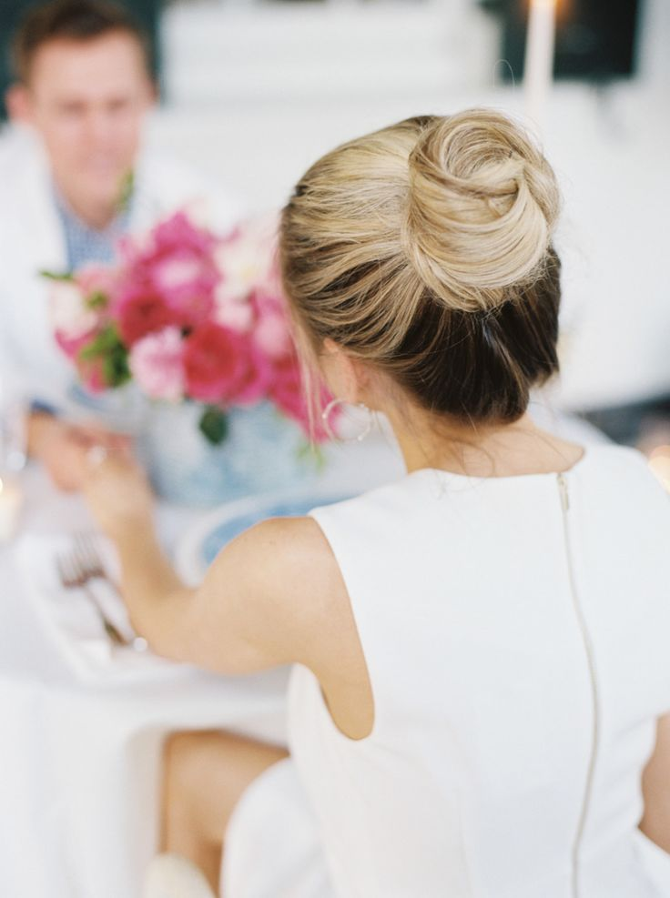 wedding top knot, bridal top knot