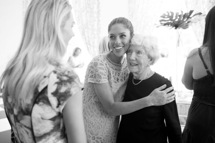 bride-to-be hugging grandma