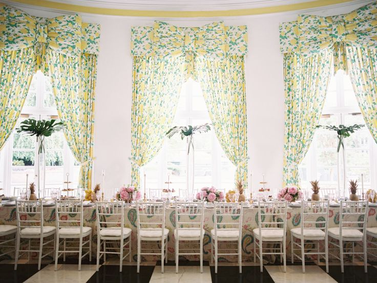 bridal shower brunch in large ballroom