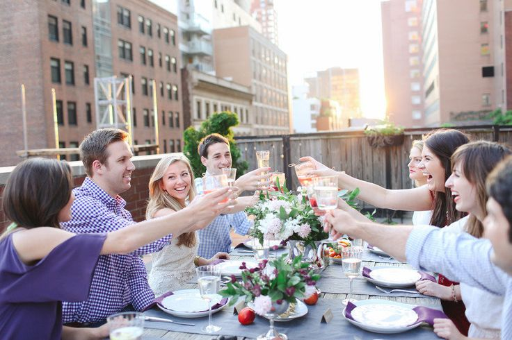 Rooftop Engagement Party It Girl Weddings