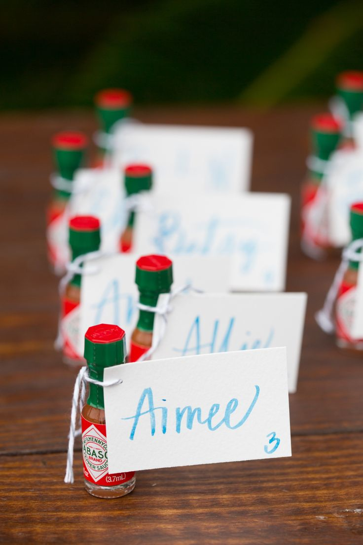 hot sauce wedding table numbers