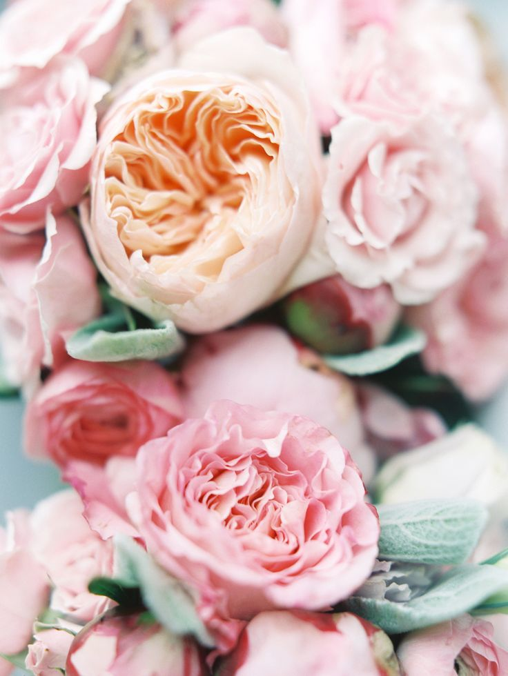 pink and peach peonies bridal bouquet