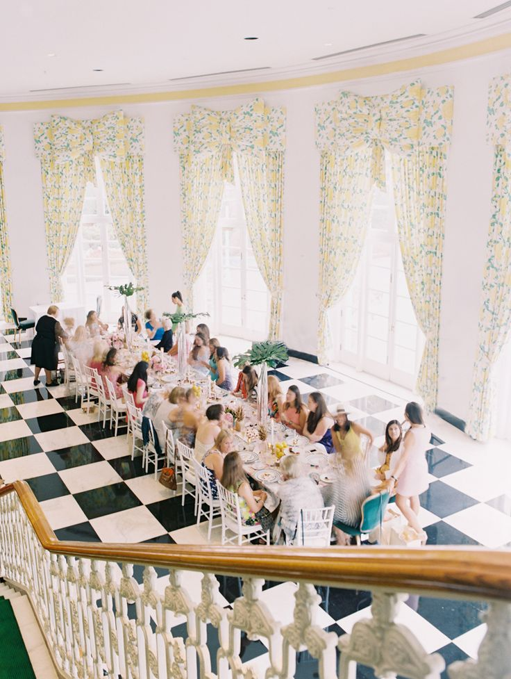 bridal shower at the greenbrier resort