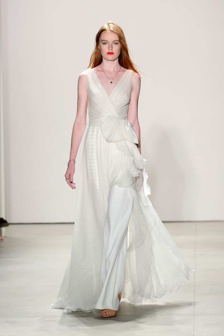 a-line wedding dress on a runway