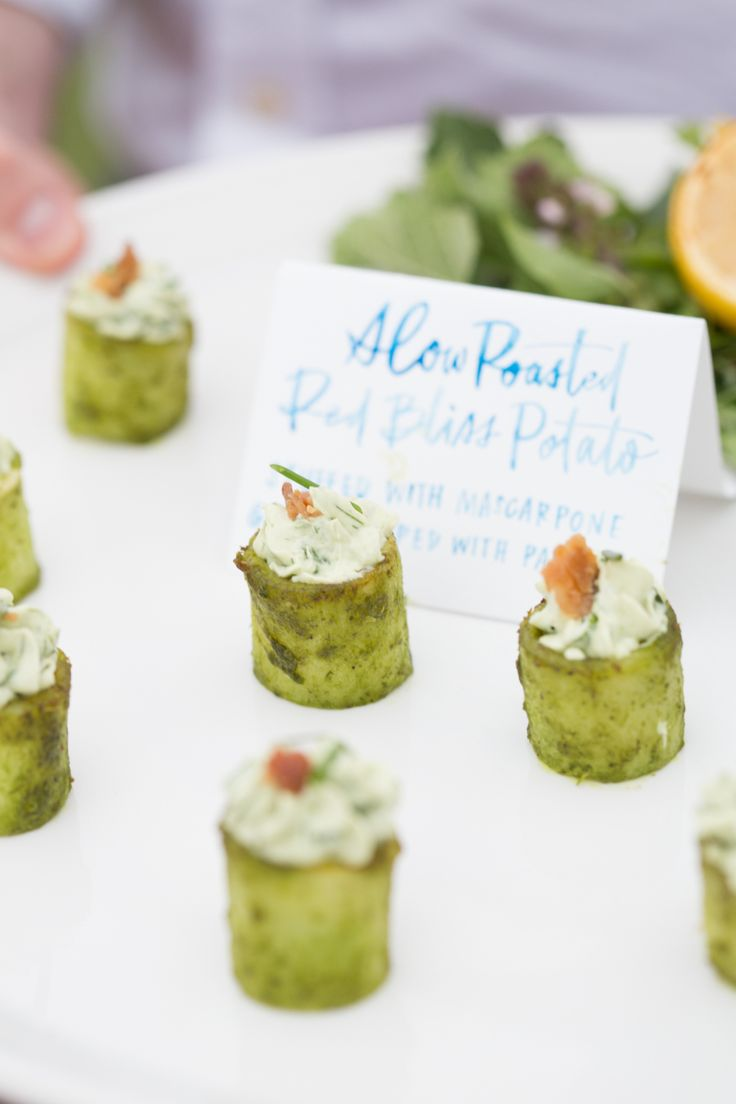 modern wedding appetizers
