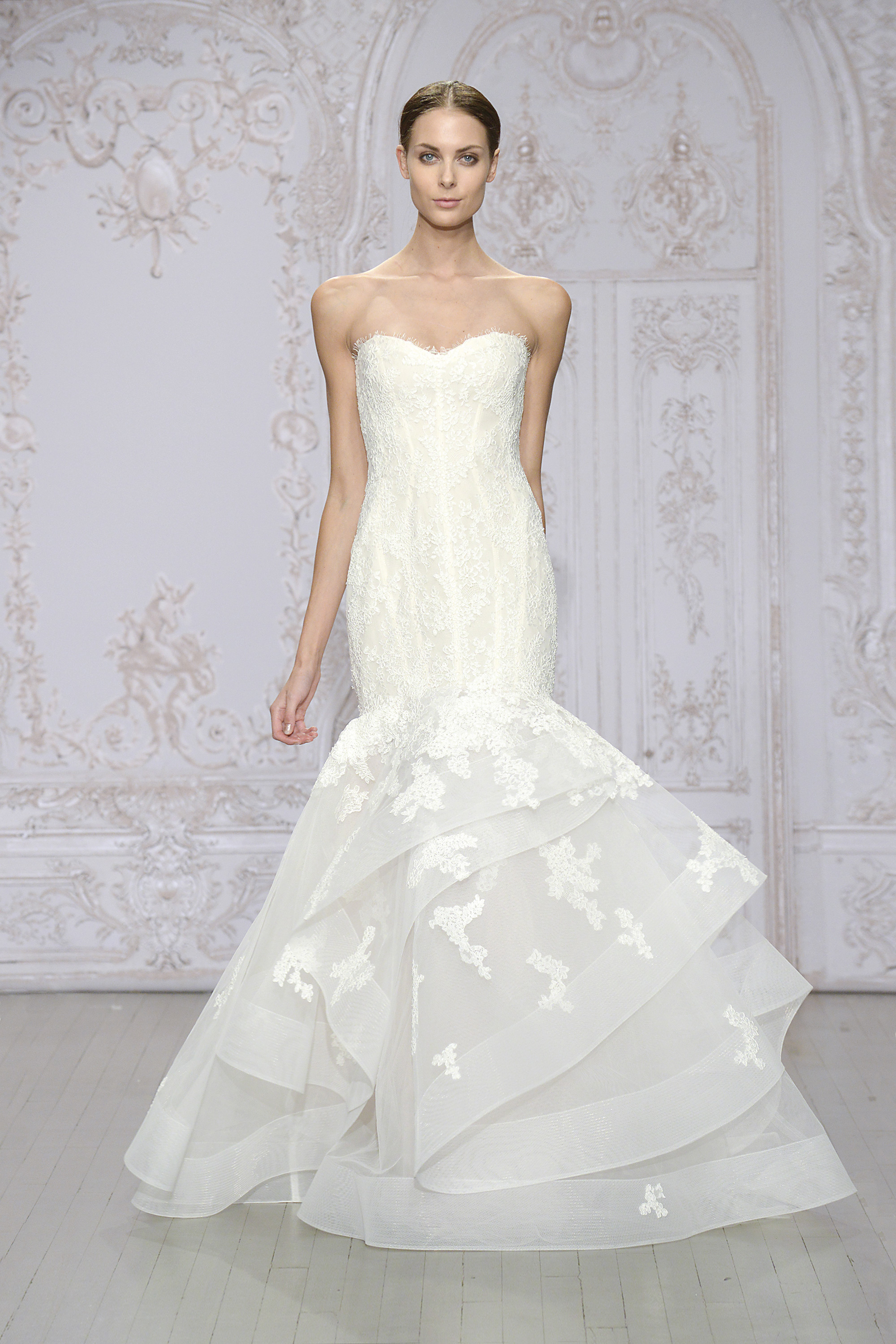 Monique lhuillier bridal collection it girl weddings for Monique lhuillier wedding dress