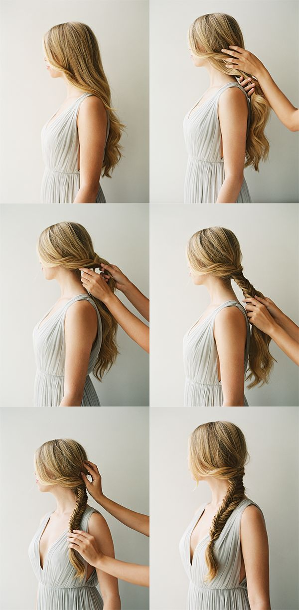 how to do a fishtail braid, bridal hairstyle trend