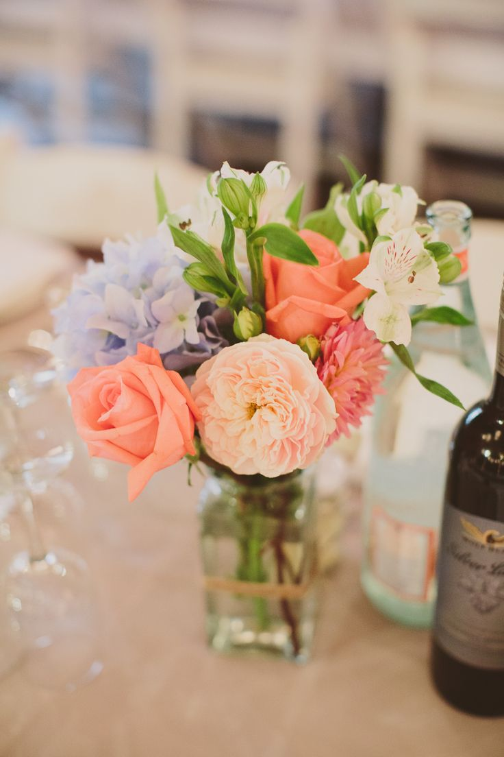 simple wedding reception flowers