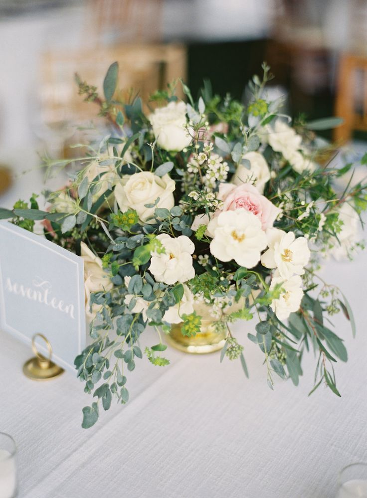blue table numbers