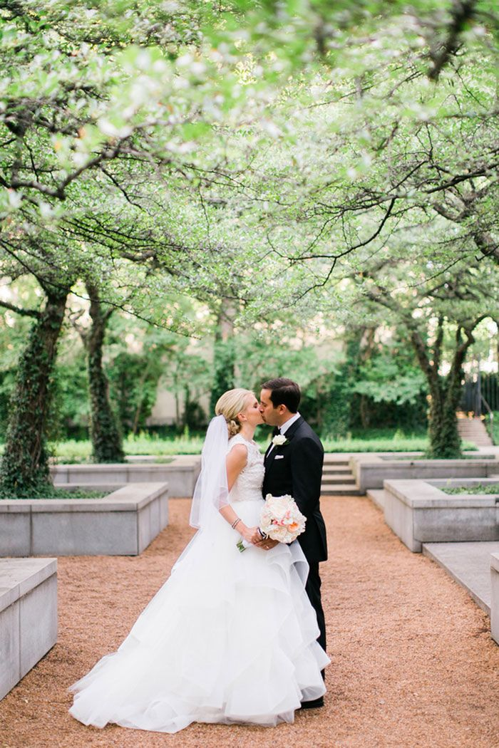 bride with up-do in a ballgown dress