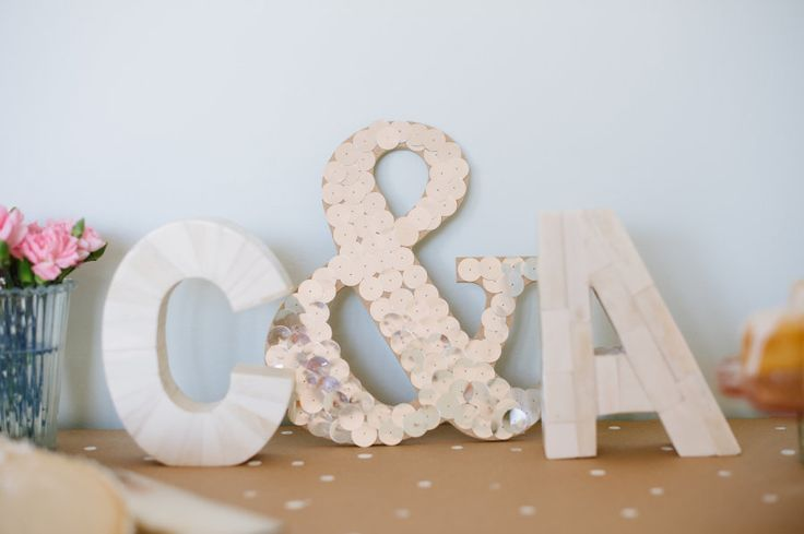 letter decor with & sign