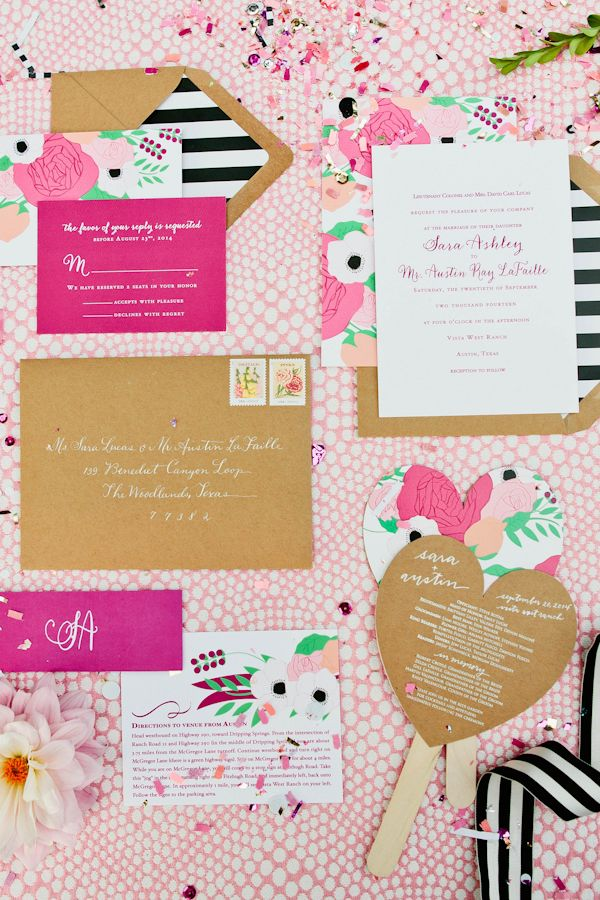 ... Kate Spade Wedding Ideas Pink, Black And White Wedding Invitations ...