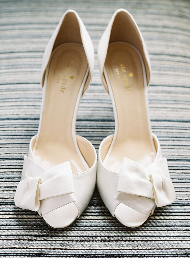 Kate spade bridal shower ideas it girl weddings white kate spade wedding shoes junglespirit Images