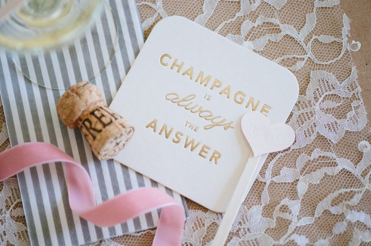 champagne is always the answer coaster