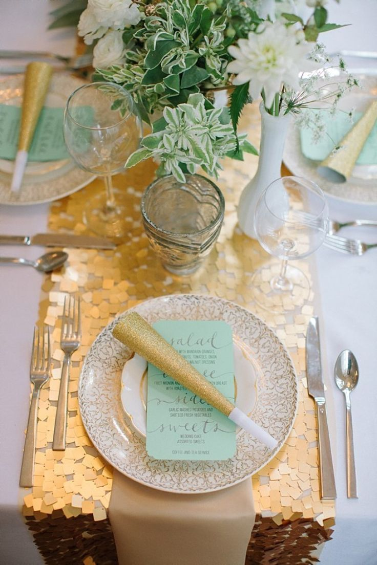 NYE wedding reception table