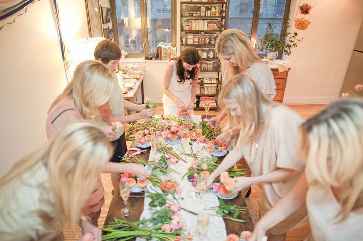flower arranging bridal shower