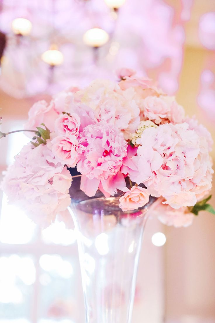 pink peonies tall wedding bouquet