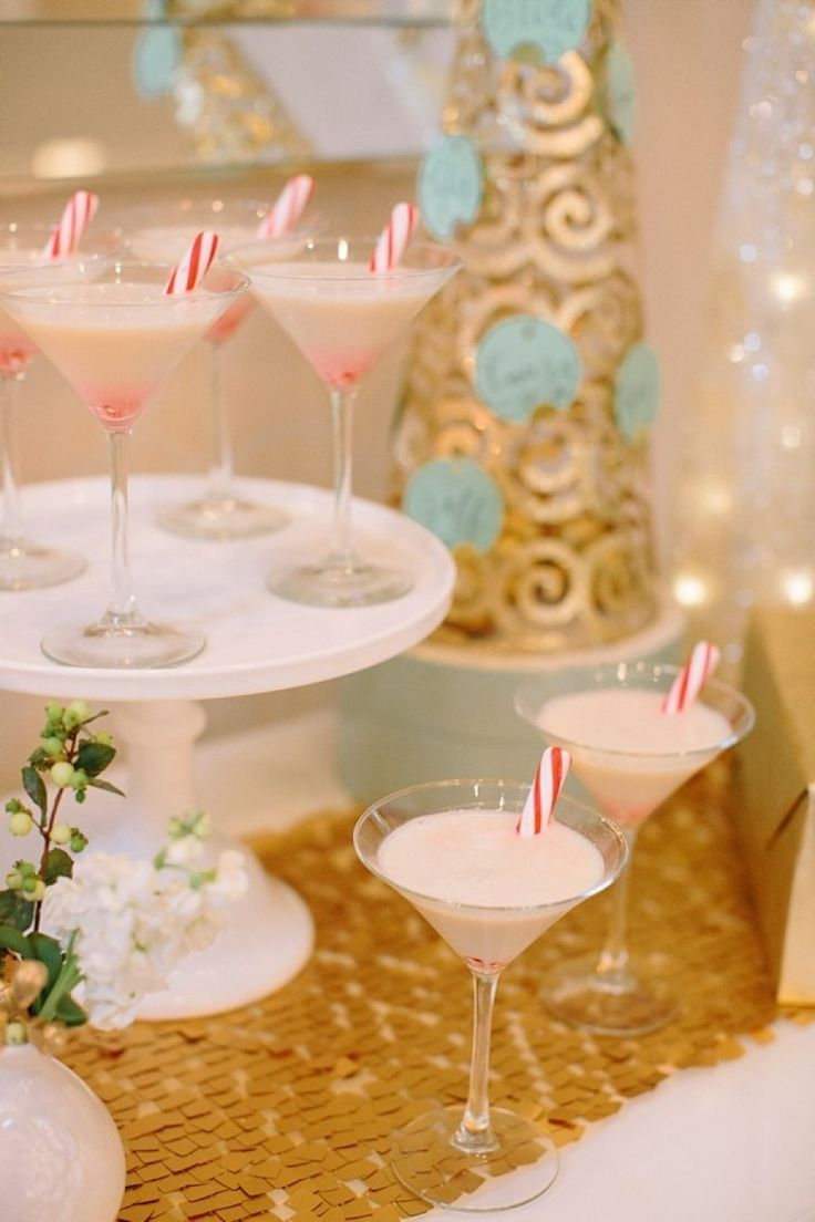 peppermint martini's, signature cocktails with candy cane's