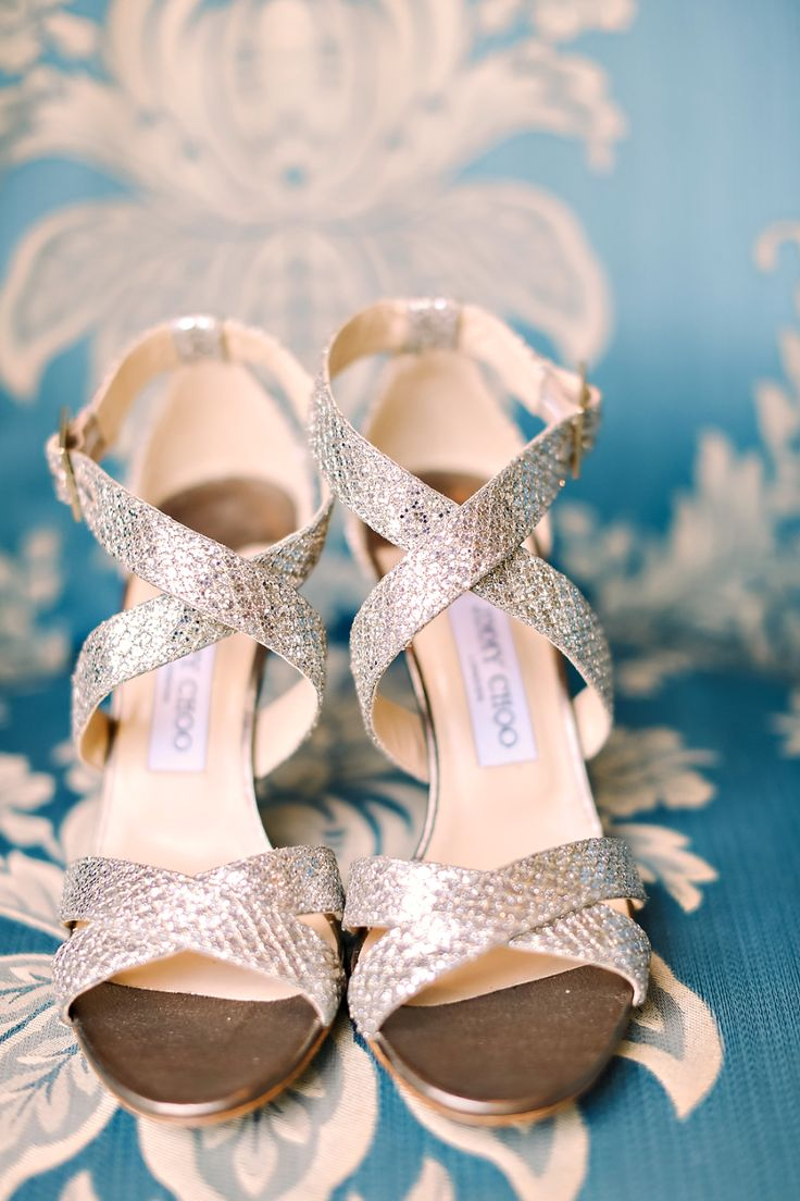 jimmy choo silver wedding pumps